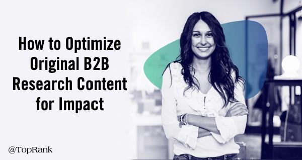Optimize original research content